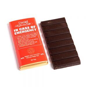 In Case of Emergency Chocolate Bar-Dark, 85g