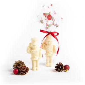 Chocolate Christmas Nutcraker - White, 85g
