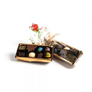 Chocolate Yule Log Container, 16pc