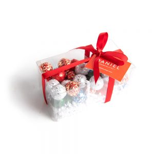 Clear Box with Chocolate Ornaments, 40pc