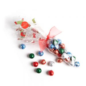 Cone bag with Chocolate Ornaments, 25pc