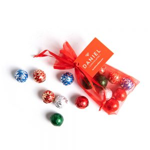 Organza Bag with Chocolate Ornaments, 8pc