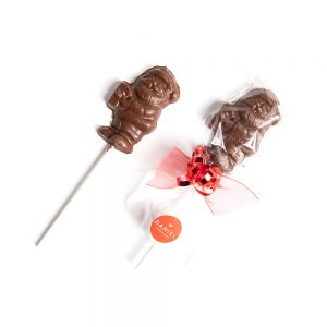 Santa Chocolate Lollipop - Milk, 1pc